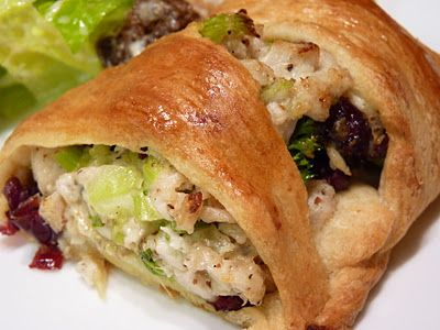 Turkey Cranberry Wreath. A Pampered Chef recipe I love. It's also a great guide for adding whatever ingredients you like any time of year. We like spinach, feta, chicken, also ham, swiss & broccoli. Endless possibilities for a main dish or appetizers.