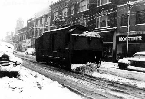 Sudbury ON Street Car Snow Plough