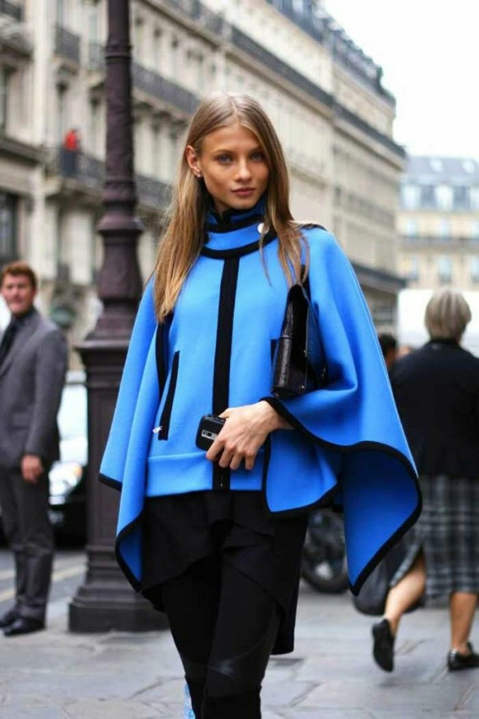 cape damen schwarz blau elegant resized