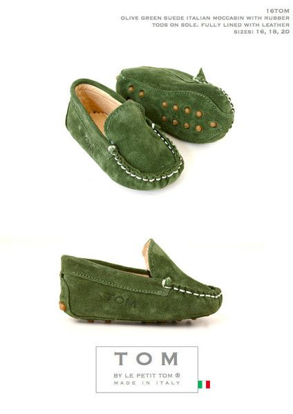 Tom Petit Moccasin Olive Green Dolly