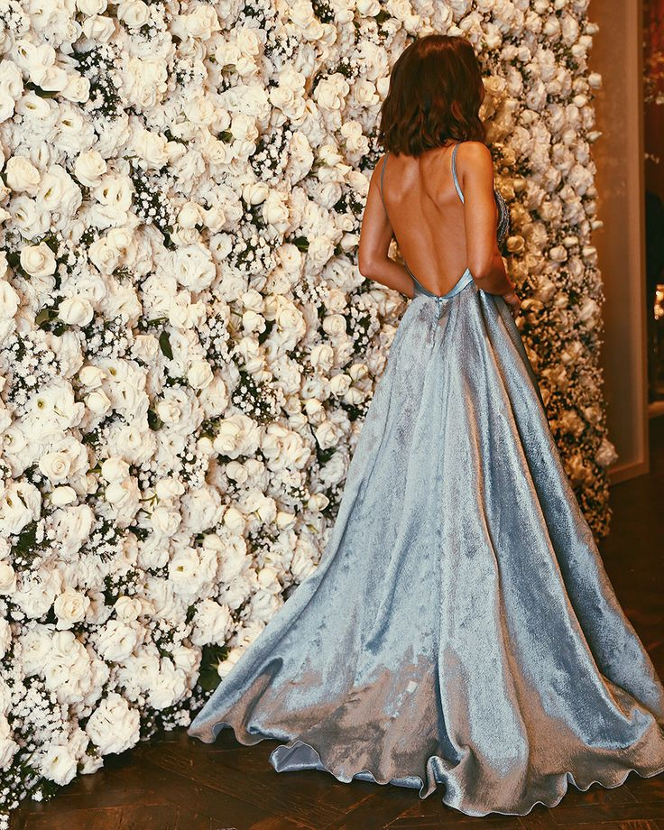 Image result for Backless A-line Crystals Spaghetti Strap  Prom Dress