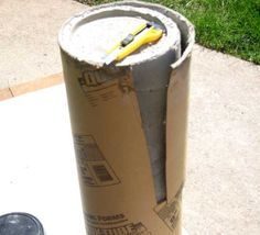 Why pay big bucks when you can make your own knock-off of a Restoration Hardware concrete fire column for about $20. Full step by step tutorial and photos.   InMyOwnStyle.com