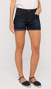 Jeansshorts in dunkelblau