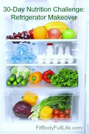 30-Day Nutrition Challenge: Refrigerator Makeover from Fit Body Full Life