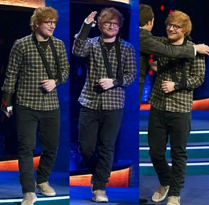 Mr. Sheeran after being introduced on The Jonathan Ross show...