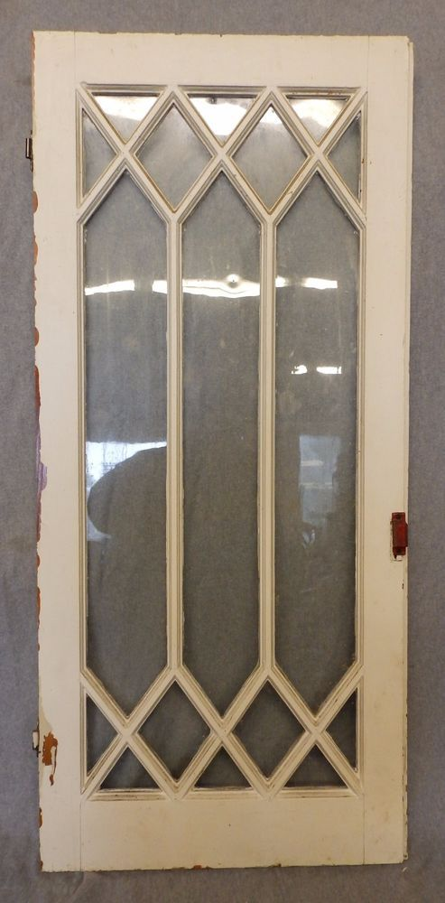 Antique Casement Window Sash Diamond Cabinet Cupboard Pantry Door Old 4937  15 | EBay