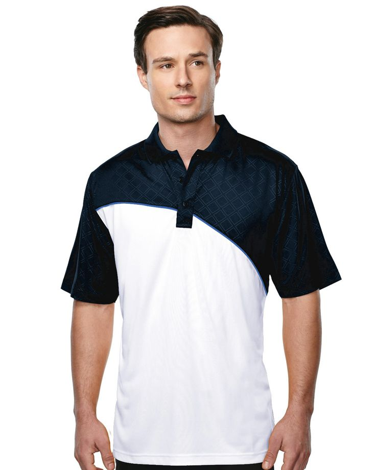 Men's S/S Golf Shirt Tri mountain K147 #blackandwhite #adorable #adorable