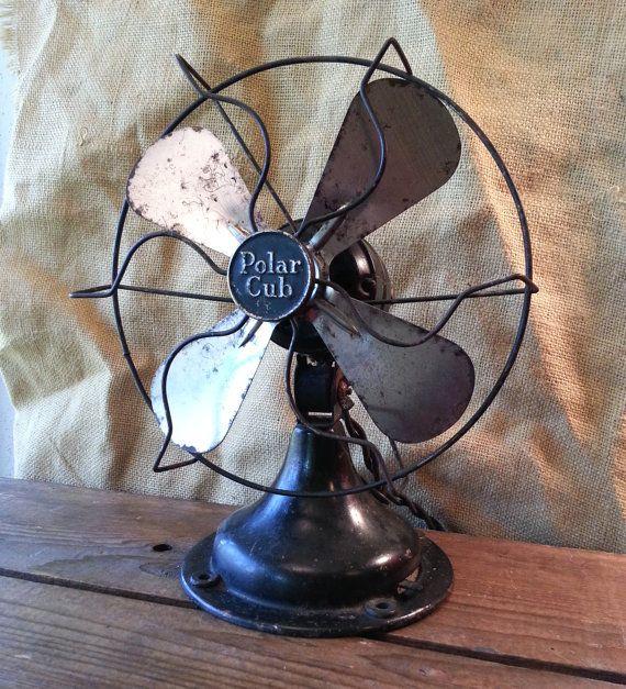 Working Antique A.C. Gilbert Polar Cub Electric Fan Circa 1920s