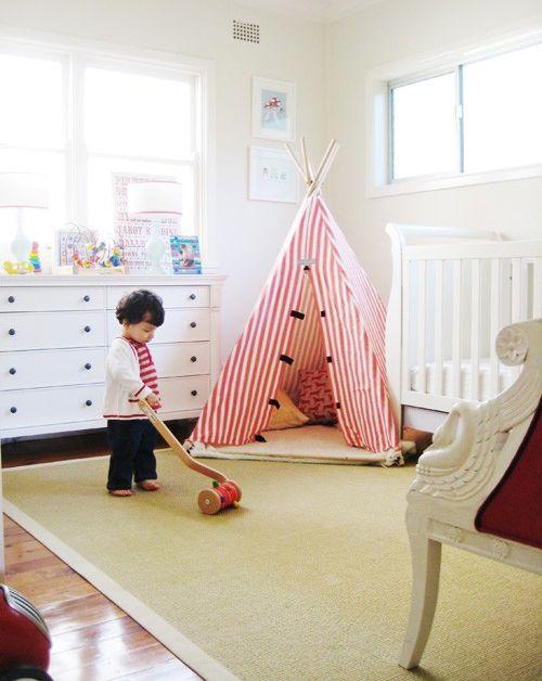 cameretta bambina giochi tenda indiana