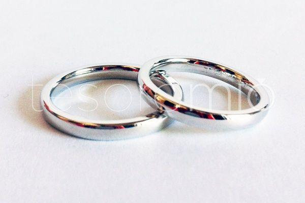 Argollas de Matrimonio Au Bl 18k www.tesoromio.cl