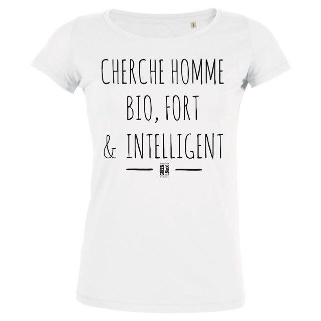 Image Tshirt Imprimé Bio Col Danseuse Femme - Cherche Homme Bio ARTECITA