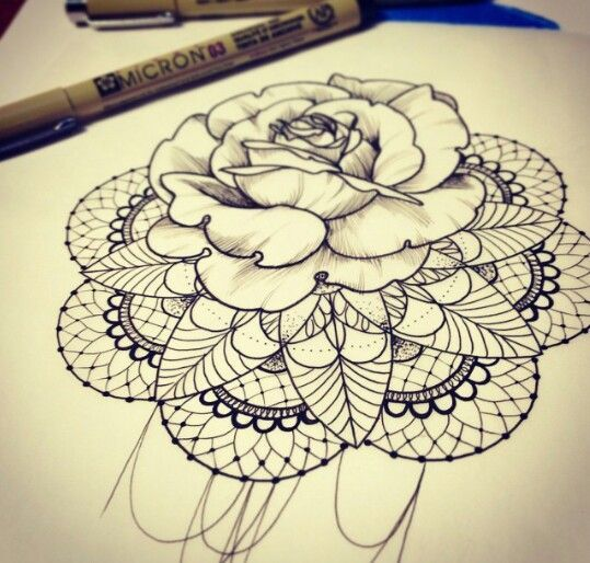tattoo -                                                      THIS IS LITERALLY WHAT I WANT I'VE BEEN ON ABOUT COMBINING MANDALA AND A ROSE FOR FOREVER AND OMG