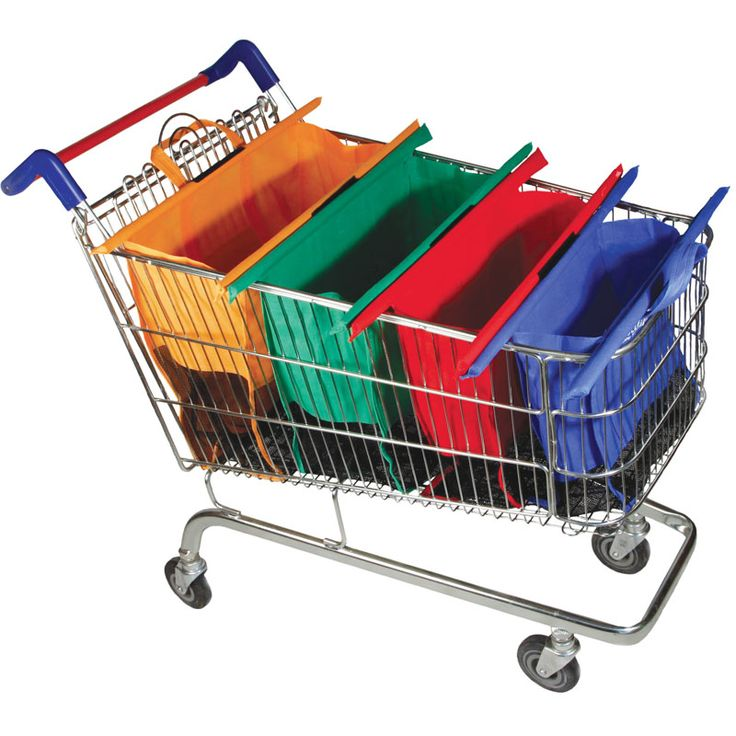 Reusable Trolley Shopping Bag, Grocery Trolley Bag For UK,Hot Sale Colorful 4pcs Supermarket Trolley Bag