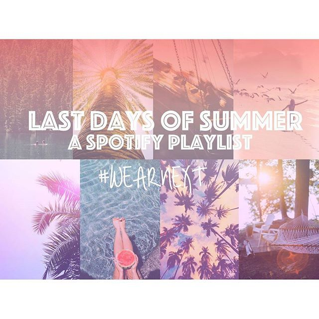 Let our new playlist play out the last days of summer....! ☀☀☀ Visit our blog to download to @Spotify (link in profile) #WearNext #spotify #playlist #summermusic #liveformusic
