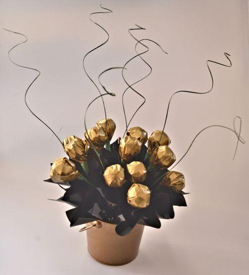 Bucket full of Ferrero Rochers, great gift idea