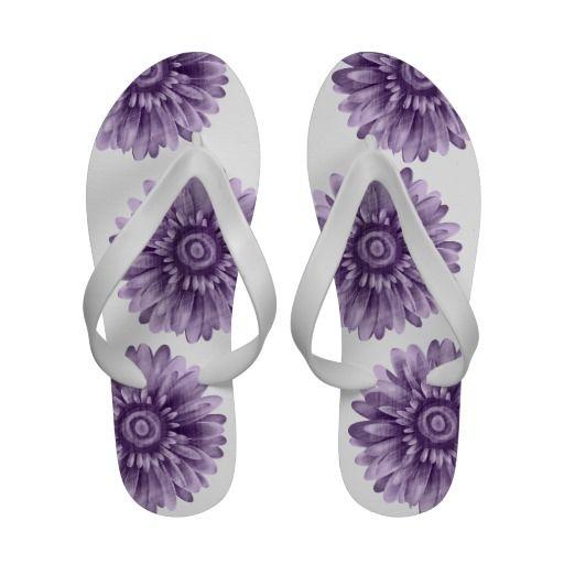 purple flip flops   Purple Daisy Vintage Flip Flops