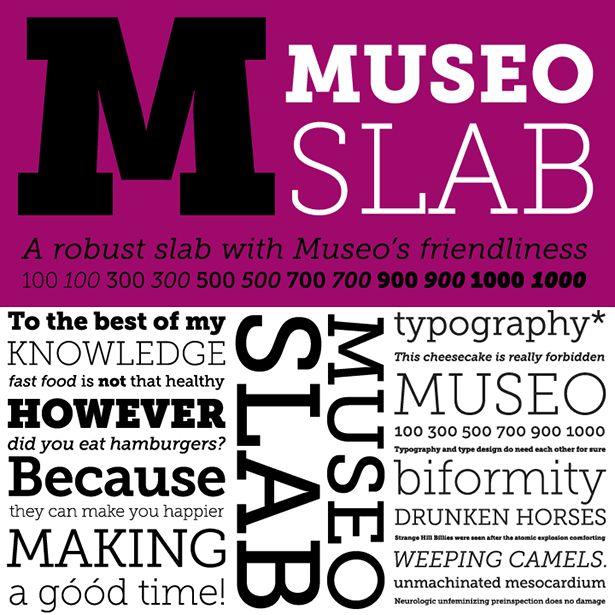Museo Slab TypeDesign Inspiration, Free Webfonts, Web Design, Slab Serif, Free Fonts, Fonts Museo, Museo Slab, Serif Fonts, Free Slab