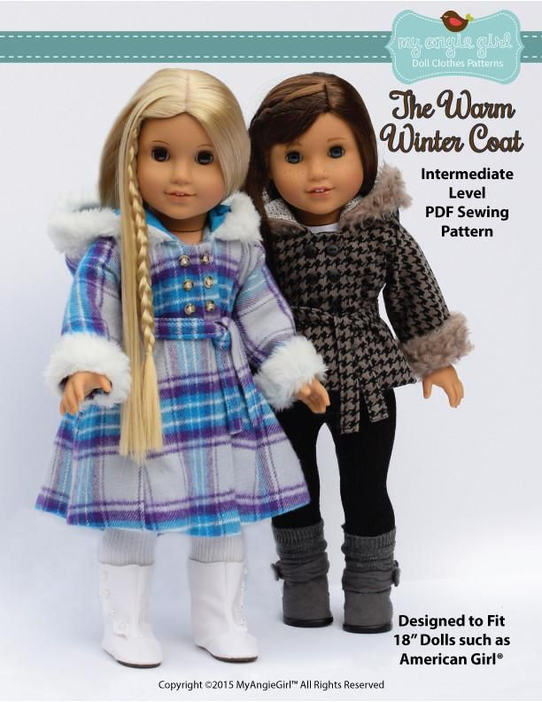 """The Warm Winter Coat 18"""" Doll Clothes"""