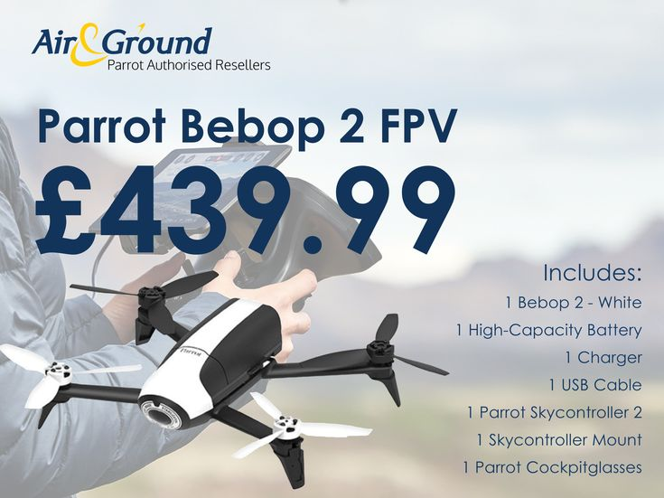 Immersive flying, 2KM range, 25 mins battery life and 1080P camera. The Parrot Bebop 2 FPV - White 💫 only £439.99 This package is a hot seller and will not be around for long. Grab yours now while stocks last at... https://www.ebay.co.uk/itm/332457383347?utm_content=buffereb7b5&utm_medium=social&utm_source=pinterest.com&utm_campaign=buffer or email us at sales@airandground.com