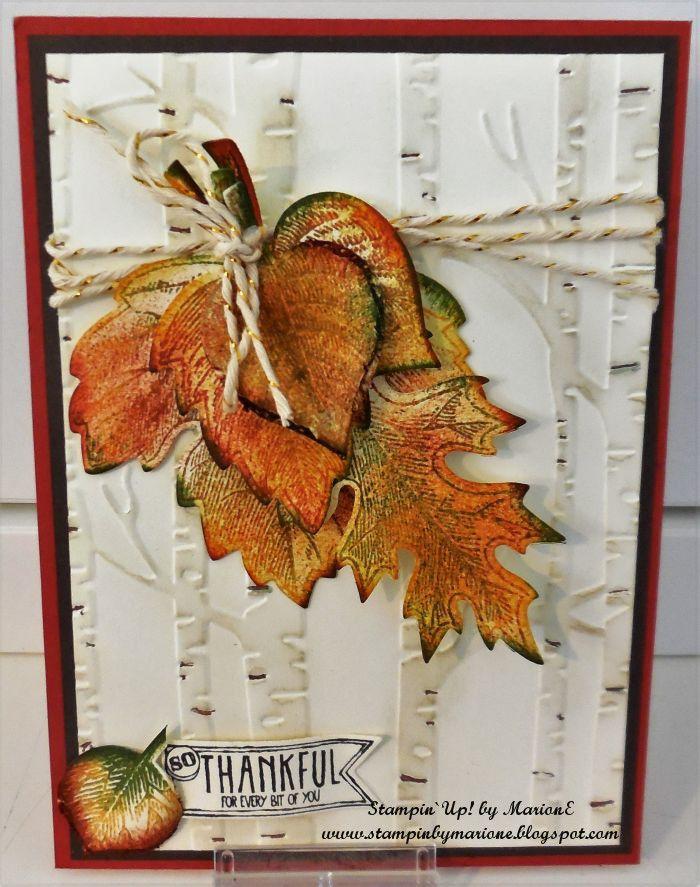 Woodland Embossing folder Vintage leaves bundle Amazing