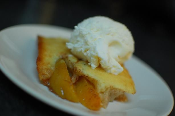 Peach Cobbler Recipe, supposedly from the Salt Lick. Freaking delicious.