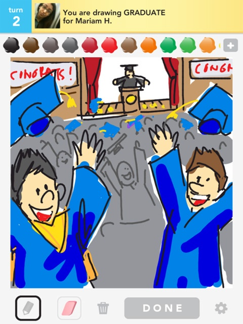 What an awesome Draw Something drawing! This definitely captures the essence of this exciting event. #Graduation