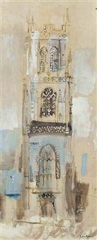 John Piper - Huish Episcopi (Somerset), 1950s, ink...