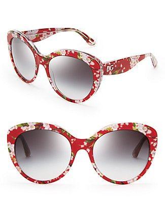 DolceGabbana Floral Cat Eye Sunglasses   Bloomingdales