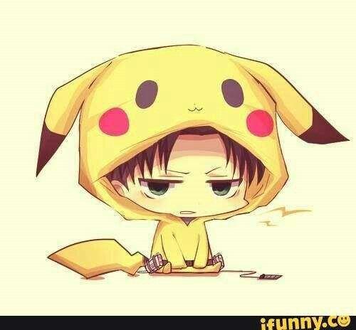 Levi, Pikachu suit, cute; Attack on Titan