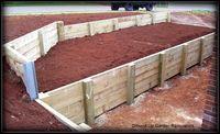 Timber Retaining Wall Drouin. Landscaper Pakenham - Ground Up Garden Renovators www.gardenrenovators.com.au