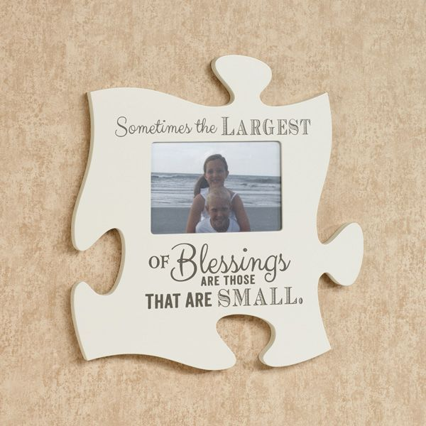 The Blessings Photo Frame Puzzle Piece Wall Art Allows You To