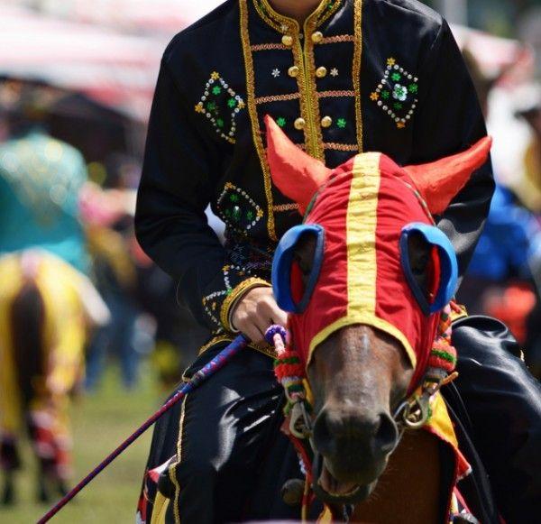 Le Bajau - La tête d'un Bajau lors une fête traditionnelle