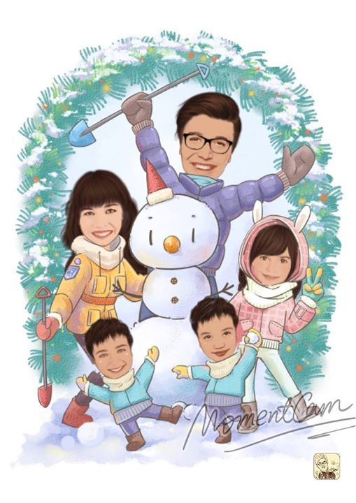 Family time is the best time 🌞 Share all your family caricatures with us! Download MomentCam: https://www.momentcam.net/mc http://www.newbornsshop.com/