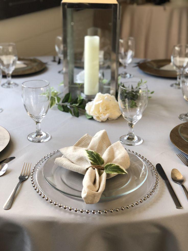 Elegant wedding plate setting with images wedding