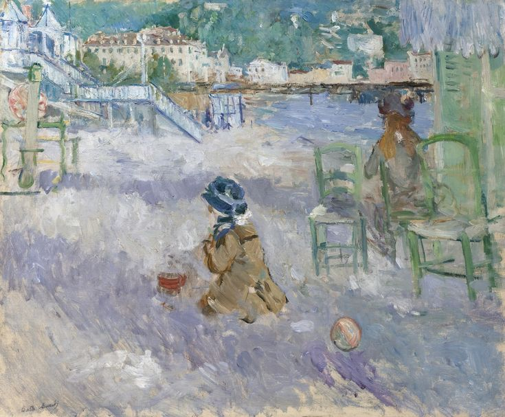 Berthe Morisot - Plage de Nice, 1882, oil on canvas
