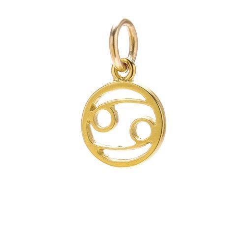 "zodiac ""cancer"" charm, gold dipped"