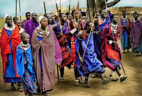 Masai Warriors Dancing Adumu