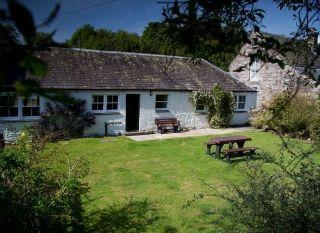 White-washed Scottish Country Cottage