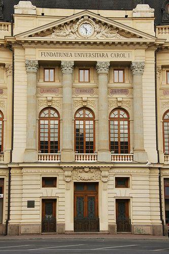 București (Bucharest, Romania) - Palatul Fundaţiei Regale Carol I (University Library)