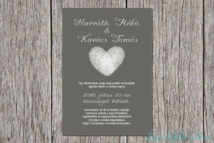 Fingerprints in love esküvői meghívó   Modern kollekció   - esküvői meghívó - esküvői meghívó, meghívók, modern esküvői meghívók, esküvői meghívó Budapest, esküvői meghívó online