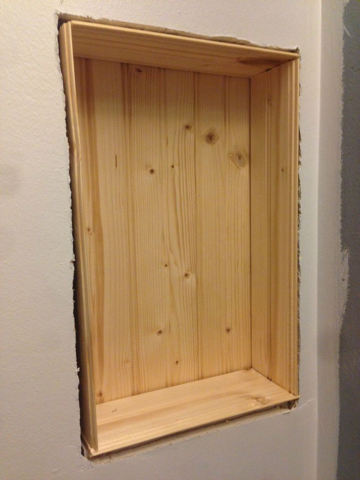 build a recessed shelf in your wall