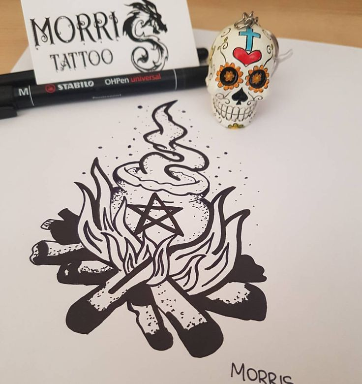 Pronto Per Tattoo https://www.facebook.com/morrisstattoo/ #magic #ideatattoo #cradle #symbolism #witch #sketchbook #ink #tattoo #potere #pozione #wizard #pentacolo #magictattoo #protection #archetipo #shaman #fuoco #woman #morristattoo #milano...