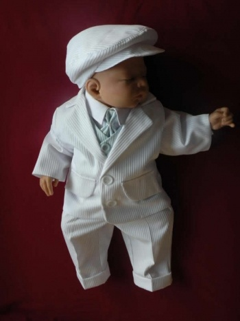 baptism outfit - I love the little newsie hat