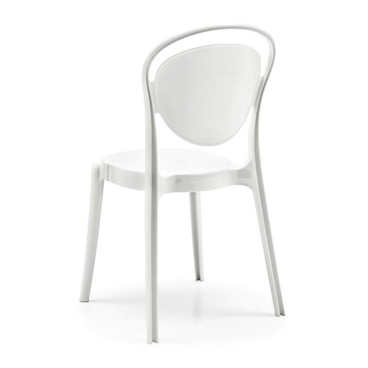 Parisienne chair by Calligaris - it also comes in sheer shades a bit like the Ghost chair. The clear aqua is pretty cool.