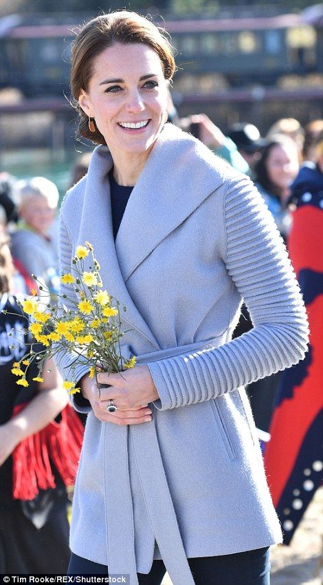 Sturdy boots were needed for the Duchess of Cambridge's trip to nearby Montana Mountain, w...
