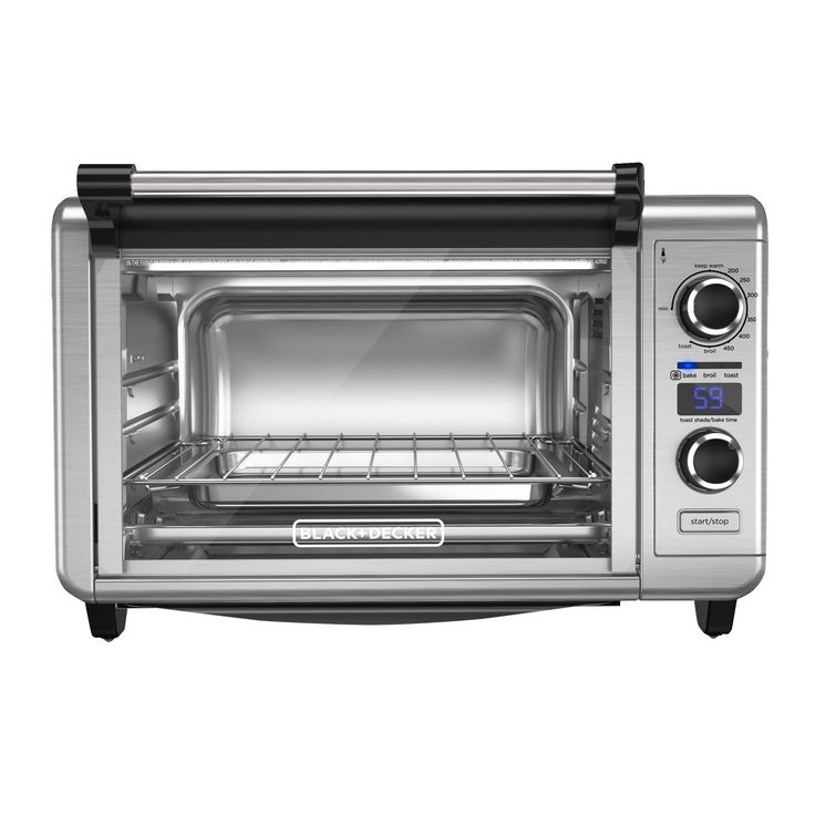 Black+decker 6-Slice Digital Convection Countertop Oven, Toaster Oven, Stainless Steel (Silver) TOD3300SS