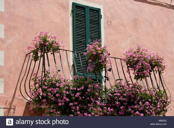Italian Floral wrought iron decorative Balcony Italy, Europe, EU Stock Photo, Royalty Free Image: 12910949 - Alamy