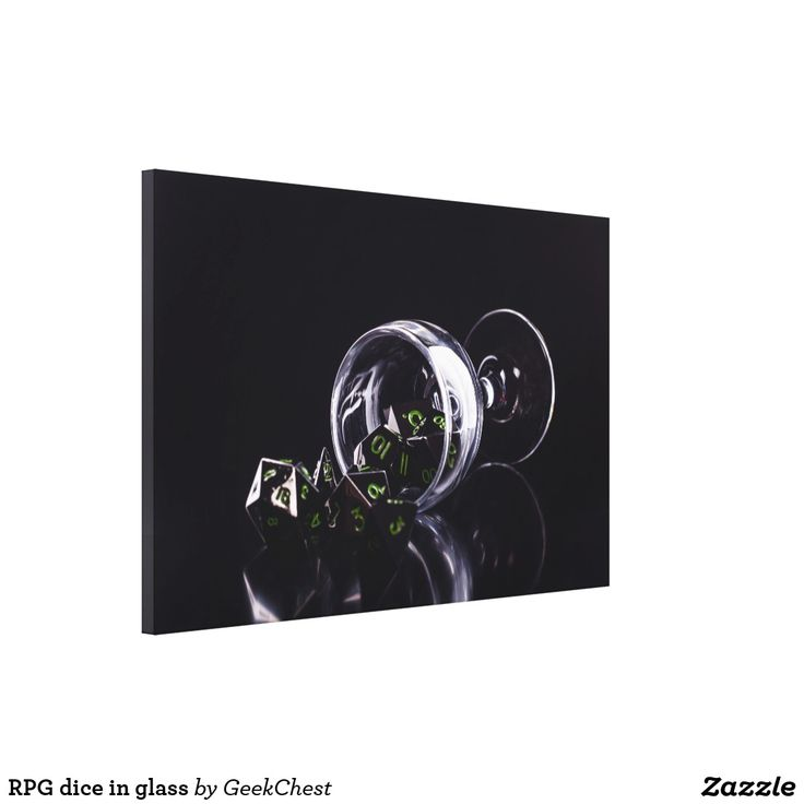 RPG dice in glass Canvas Print
