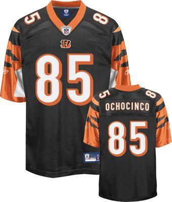 Reebok Cincinnati Bengals Chad Ochocinco 85 Black Authentic Jersey Sale
