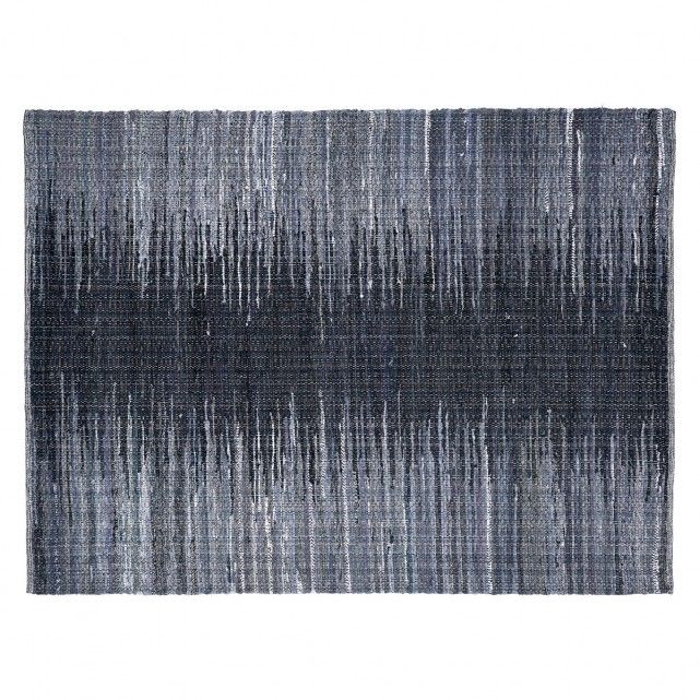 £200 The Stamfrey large black recycled fabric rug is a striking ombré design, hand woven in tonal shades that fade from black to charcoal and pale grey.[br]Exclusive to Habitat, the rug provides a fabulous foil to bold, block-coloured upholstery. It is made using upcycled cotton from textile factories making each one unique.